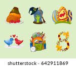 happy holidays different icons... | Shutterstock .eps vector #642911869