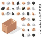 different box vector isometric... | Shutterstock .eps vector #642912154