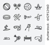 activity icon. set of 16... | Shutterstock .eps vector #642912460