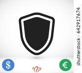 shield icon  stock vector... | Shutterstock .eps vector #642917674