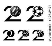 20 years sport ball anniversary ... | Shutterstock .eps vector #642919414