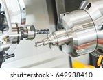 industrial metalworking cutting ... | Shutterstock . vector #642938410