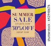 summer sale background. vector... | Shutterstock .eps vector #642948676