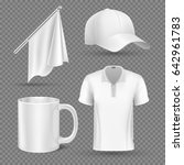promotional items  set mockup.... | Shutterstock . vector #642961783