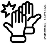 high five vector icon | Shutterstock .eps vector #642964228