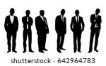 collection of black and white... | Shutterstock . vector #642964783
