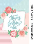 happy birthday card template... | Shutterstock .eps vector #642971488