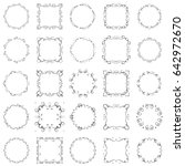 vector illustration set of... | Shutterstock .eps vector #642972670