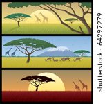 three african landscapes. good... | Shutterstock .eps vector #64297279