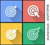 target vector icons set.... | Shutterstock .eps vector #642973948