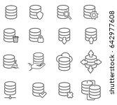 database icon set | Shutterstock .eps vector #642977608