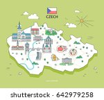 czech travel landmark collection | Shutterstock .eps vector #642979258