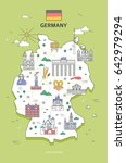 germany travel landmark... | Shutterstock .eps vector #642979294