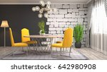 interior dining area. 3d... | Shutterstock . vector #642980908