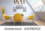 interior dining area. 3d... | Shutterstock . vector #642980923