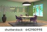 interior dining area. 3d... | Shutterstock . vector #642980998