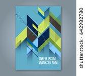 abstract minimal geometric... | Shutterstock .eps vector #642982780