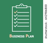 business plan line icon. | Shutterstock .eps vector #642986800