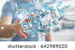 businessman on blurred... | Shutterstock . vector #642989020