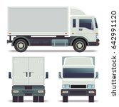 small truck front  back and... | Shutterstock . vector #642991120