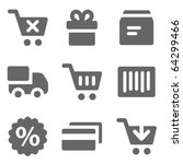 shopping web icons  grey solid...   Shutterstock .eps vector #64299466
