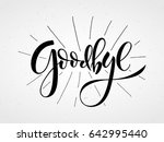 Hand Sketched Goodbye Letterin...