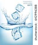 transparent vector water splash ... | Shutterstock .eps vector #642996388