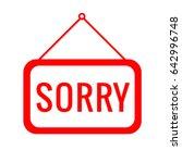 sorry icon vector eps 10... | Shutterstock .eps vector #642996748