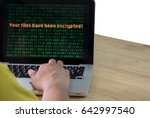 laptop can not access the file... | Shutterstock . vector #642997540