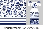 stylized persian floral...   Shutterstock .eps vector #642999046