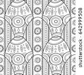 decorative easter eggs. black... | Shutterstock .eps vector #642999508