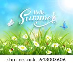 sunny blue sky background with... | Shutterstock .eps vector #643003606