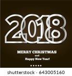2018 silver metallic  vector... | Shutterstock .eps vector #643005160