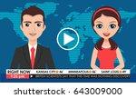 internet tv breaking news male... | Shutterstock .eps vector #643009000