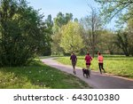 Group Of Women Jogging At Park...