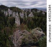 rock valley landscape view | Shutterstock . vector #643012684
