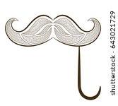 zen tangle fake mustache on a... | Shutterstock .eps vector #643021729