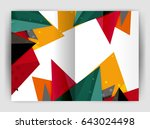 triangle business print... | Shutterstock . vector #643024498