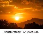 Sunset Behind The Sky  Orange...