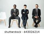 front view of multiethnic... | Shutterstock . vector #643026214