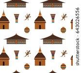 vector flat illustration huts... | Shutterstock .eps vector #643026556