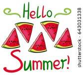 hello summer lettering and... | Shutterstock .eps vector #643031338