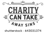 charity can take away sins | Shutterstock .eps vector #643031374