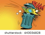 book thrown in the trash | Shutterstock .eps vector #643036828