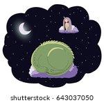 hand drawn vector illustration... | Shutterstock .eps vector #643037050