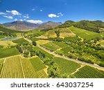 franschoek winelands and... | Shutterstock . vector #643037254
