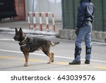dog canine unit of the police... | Shutterstock . vector #643039576