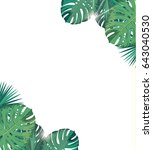 tropic leaves with sunshine.... | Shutterstock .eps vector #643040530
