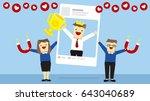 illustration vector cartoon of... | Shutterstock .eps vector #643040689