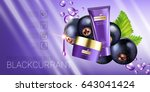 black currant skin care series...   Shutterstock .eps vector #643041424